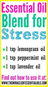 DIY Essential Oil Blend for Stress