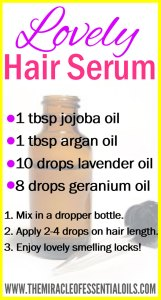 DIY Essential Oil Hair Serum for Lovely Smelling Locks