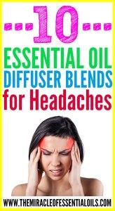 10 Essential Oil Diffuser Blends for Headaches
