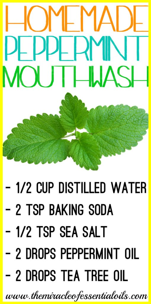 Check out this DIY peppermint essential oil mouthwash recipe for fresh breath and good oral health!