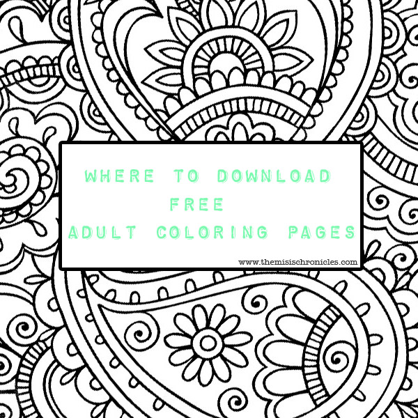 where to download free adult coloring pages
