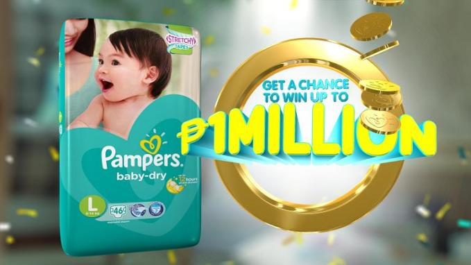 pampers baby dry first million