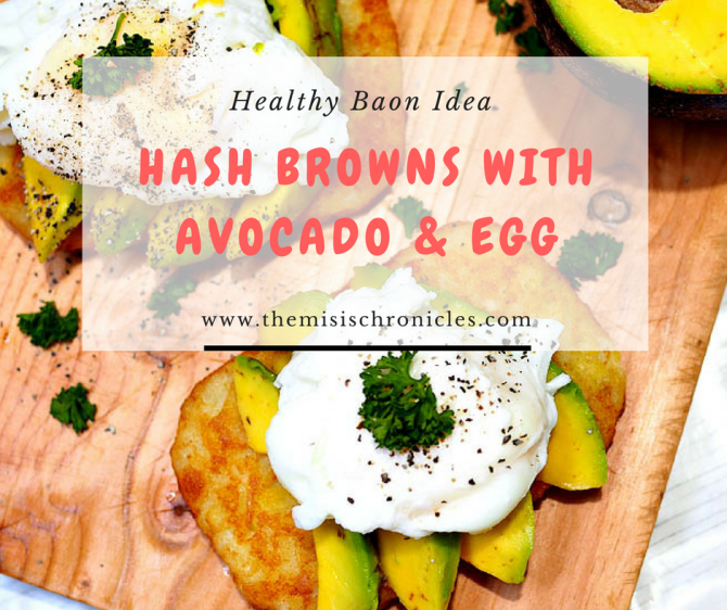 US potato hash brown with avocado and egg recipe