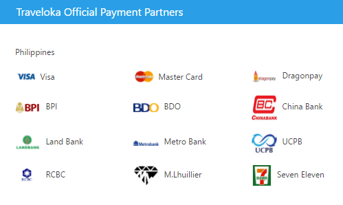 traveloka payment partners