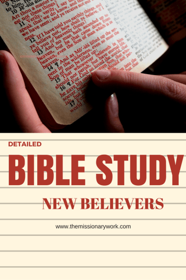 bible study for new believers