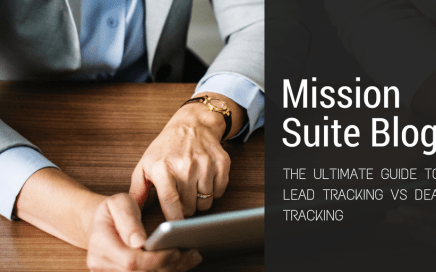deal tracking, lead tracking, mission suite