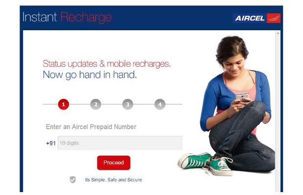 Now recharge your Aircel number through Facebook