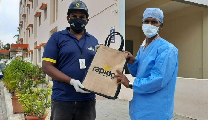 Rapido provides COVID Care Kits to Police personnel, Healthcare professionals and Corporation workers