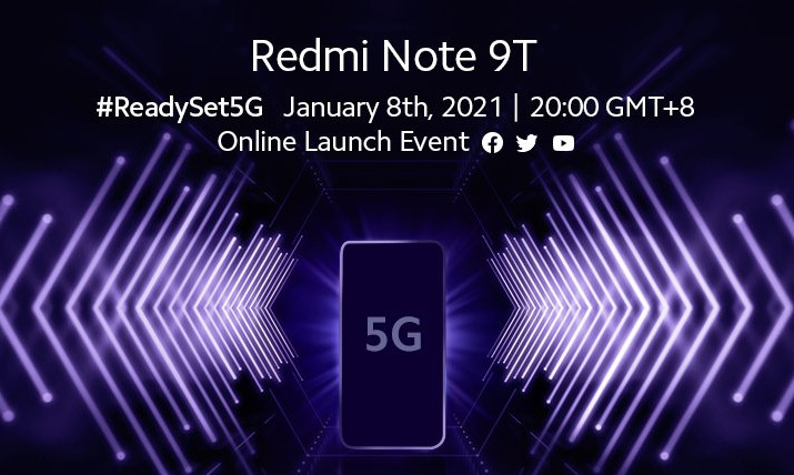Redmi Note 9T to be announced on January 8