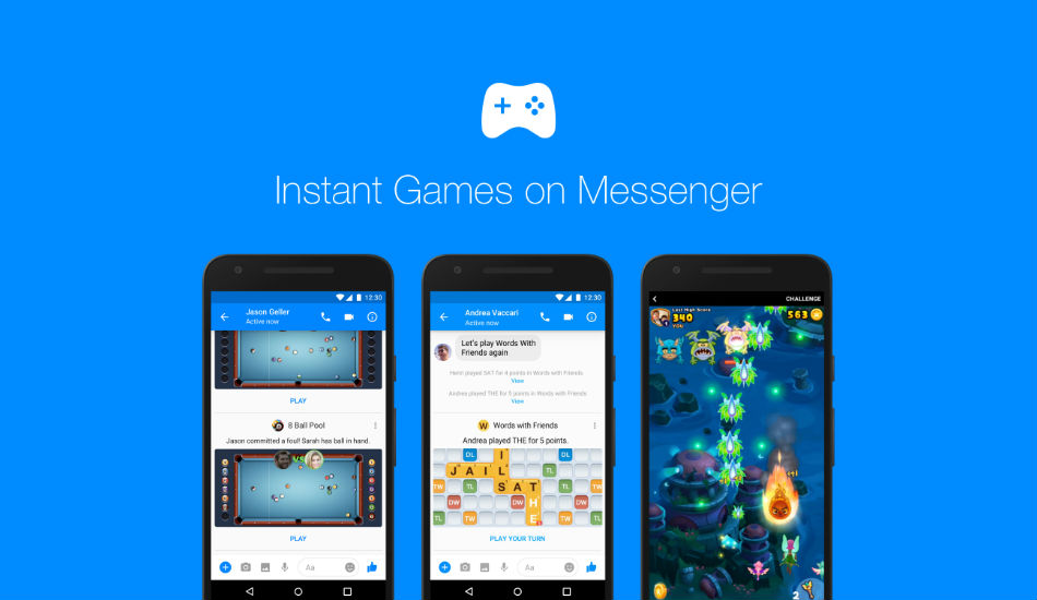 Facebook rolls out 'Instant Games' for Messengers worldwide for both iOS and Android users