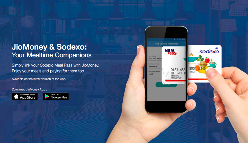 JioMoney teams up with Sodexo for mobile-based payments via Meal Cards