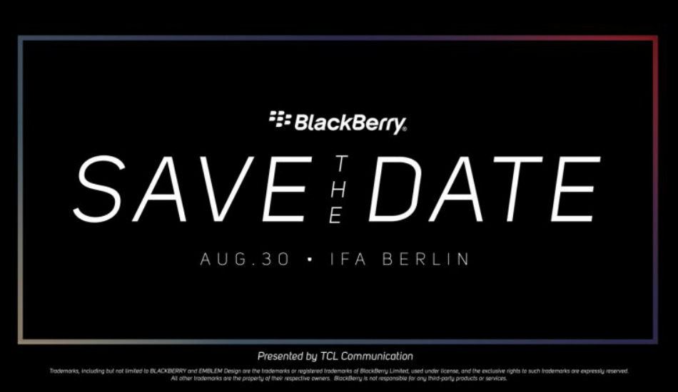 TCL sends out invites for BlackBerry event on August 30, is it the KEY2 LE?