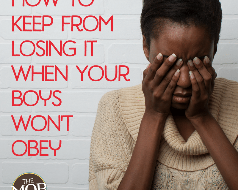 How to Keep from Losing It When Your Kids Won't Obey