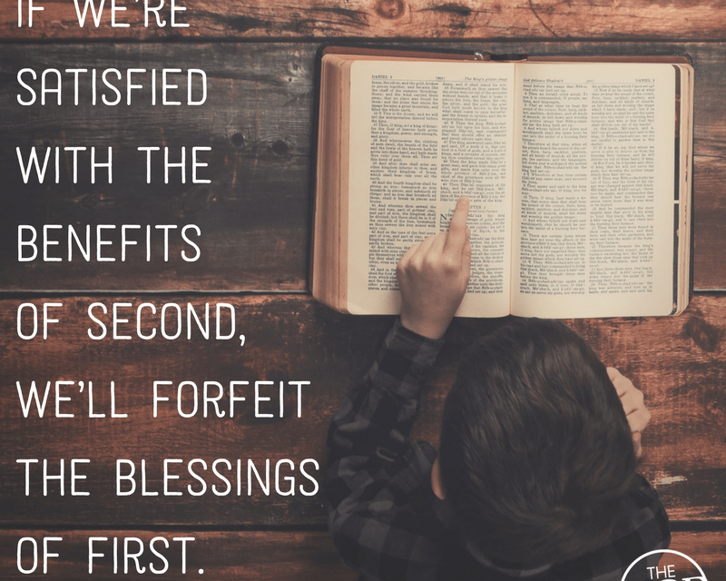 First Things First: a life lesson in what matters