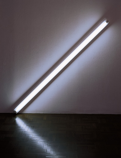 Modern Art Museum of Fort Worth - Diagonal of May 25, 1963 1963 Dan Flavin American, 1933-1996 Warm white fluorescent light, edition 2/3 96 inches