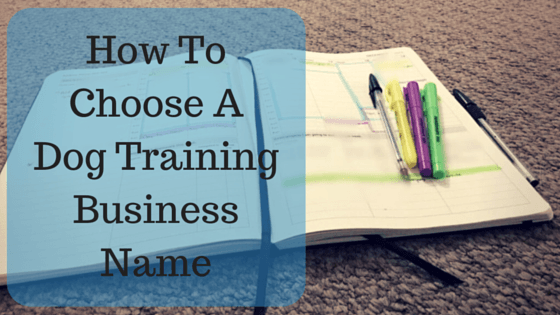 How To Choose A Dog Training Business Name
