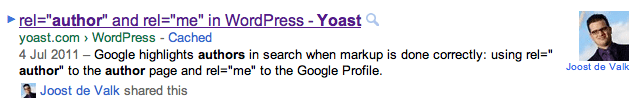 AuthorRank in The Google SERPs