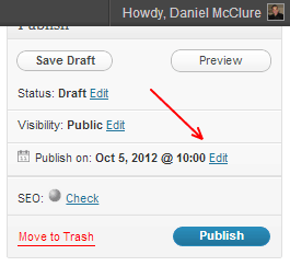 How to Schedule Posts with WordPress