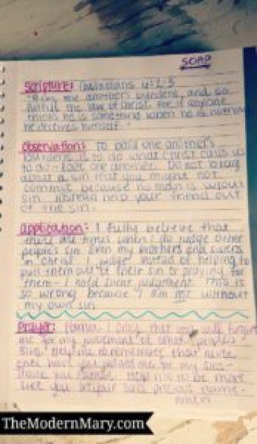 SOAP Bible Study Method Example