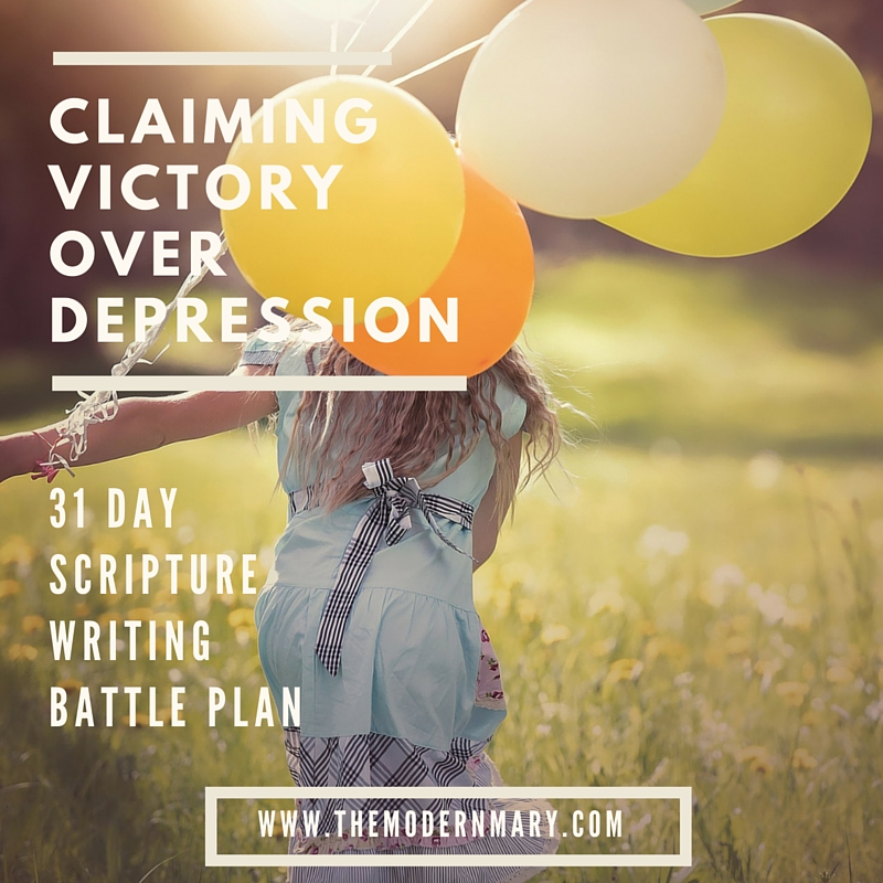Scripture Writing Plan to Overcome Depression - The Modern Mary