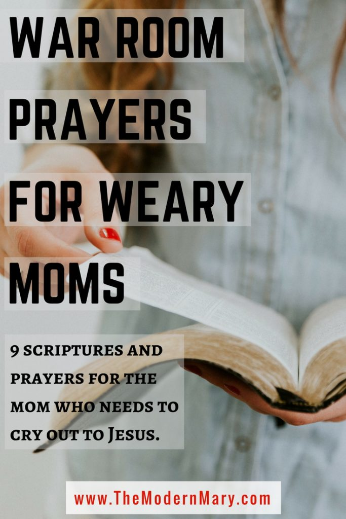 These war room prayers are perfect for the weary mom! #warroom #prayers #motherhood