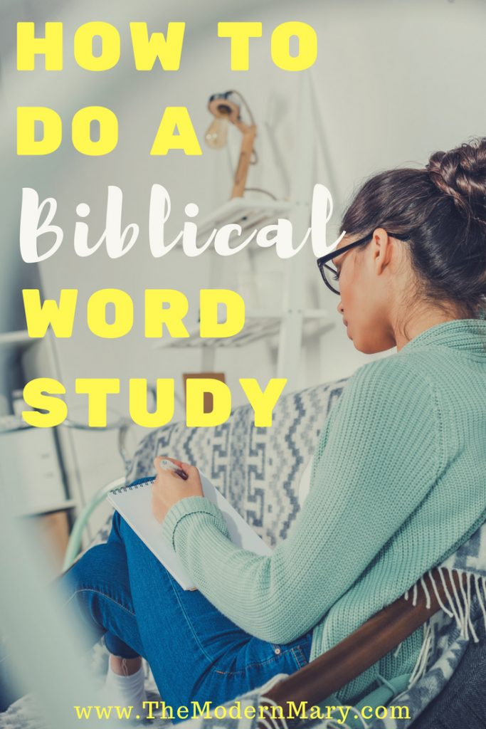 If you're a busy woman looking to dig deeper into Bible study--check out this awesome method to doing a Biblical Word study.