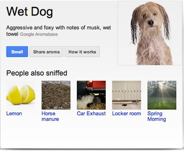 Google - April Fool smell jokes but no Mauriac