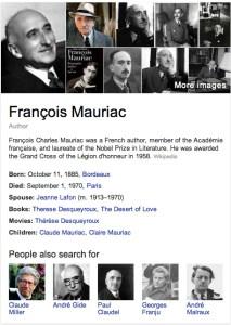 Google's view of Mauriac