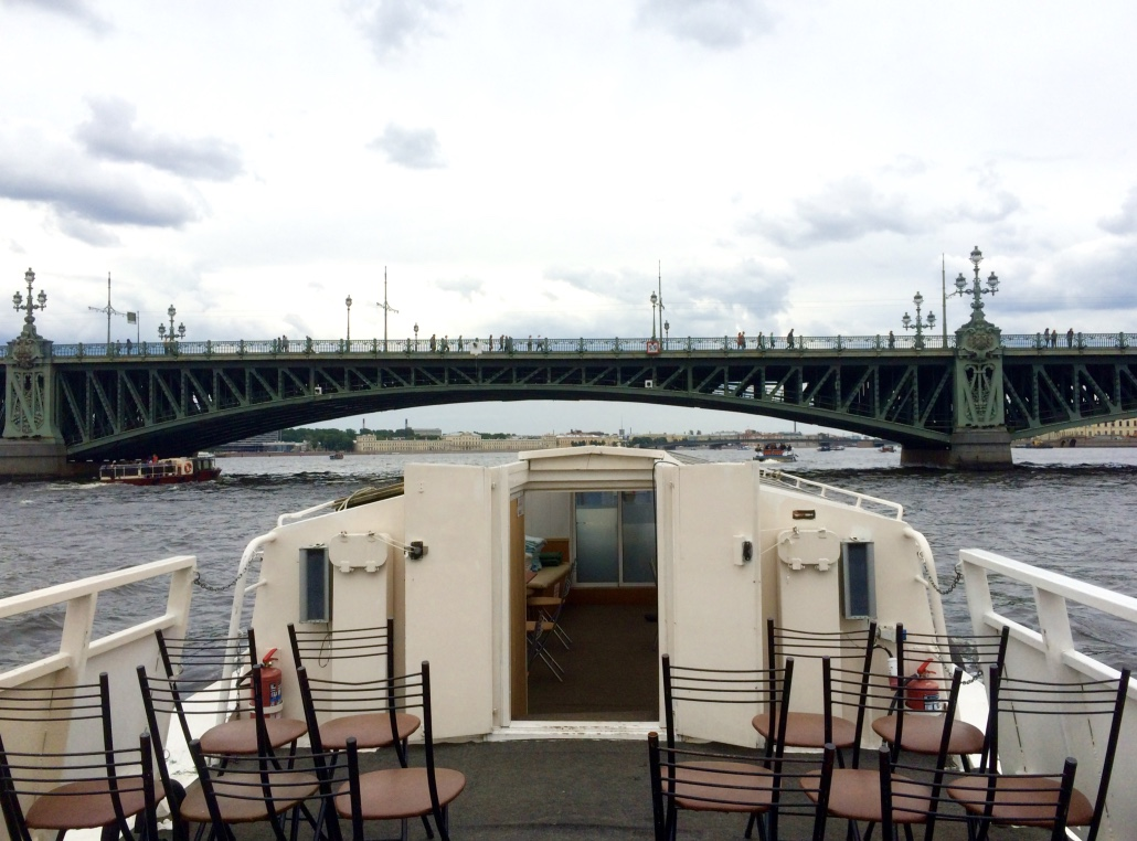 Canal Boat on Neva River