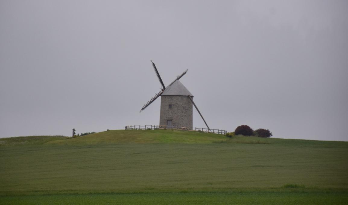 windmill near mont saint michel