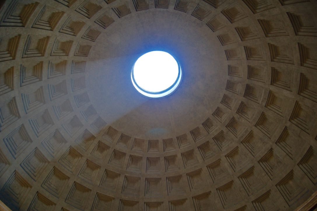 The Pantheon dome, Rome - the modern postcard