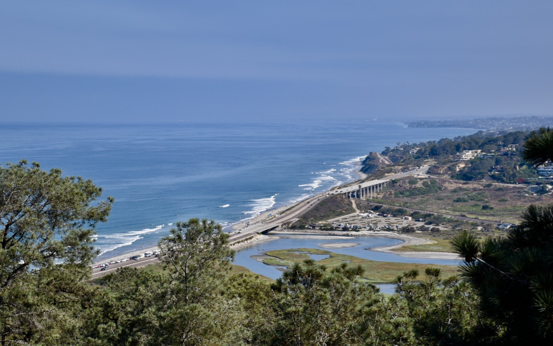 Torrey Pines Reserve View from Highpoint Overlook - the modern postcard