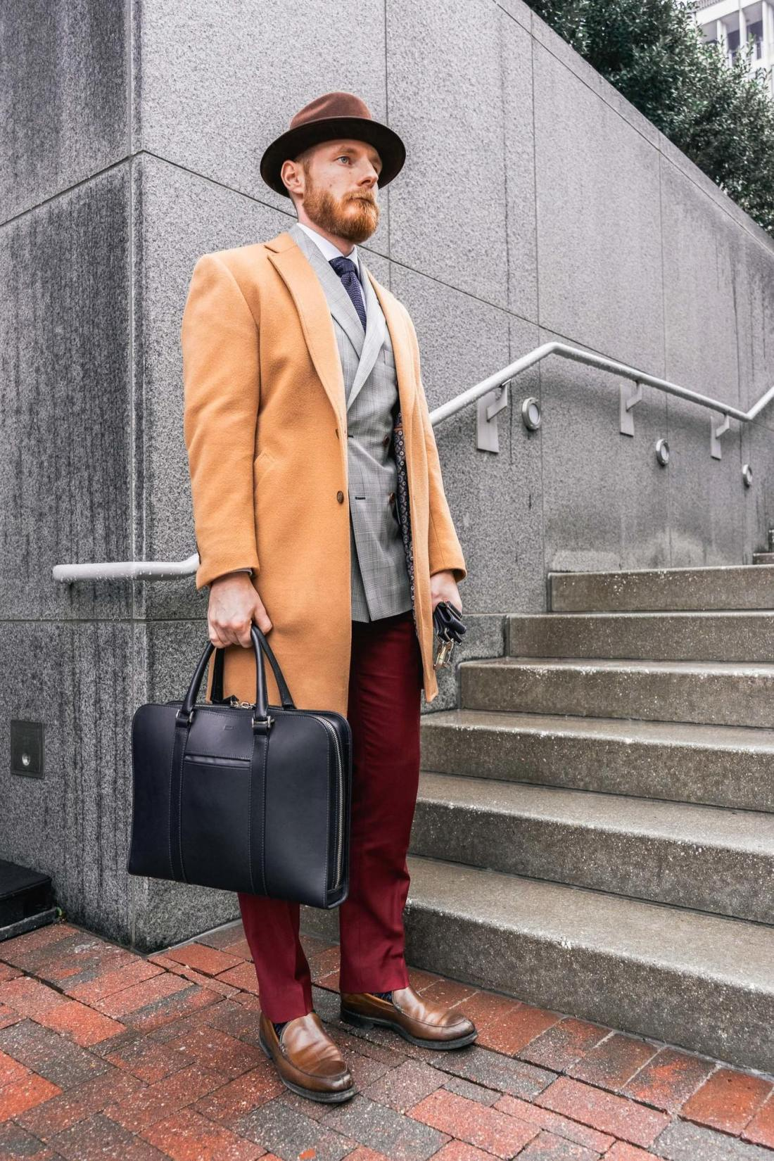 Robert Ordway holding briefcase