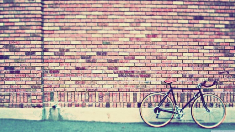 hipster background the modern hippie bike brick wall portland oregon