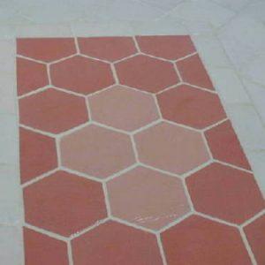 12 x12 hexagon slate texture concrete floor tile molds 1 set of 3 molds