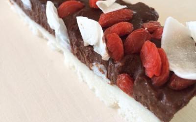 Pixie's kitchen | Raw Chocolate Ganache and Coconut Ice Slice