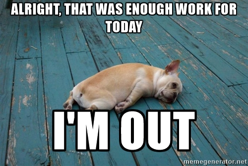 dog-tired