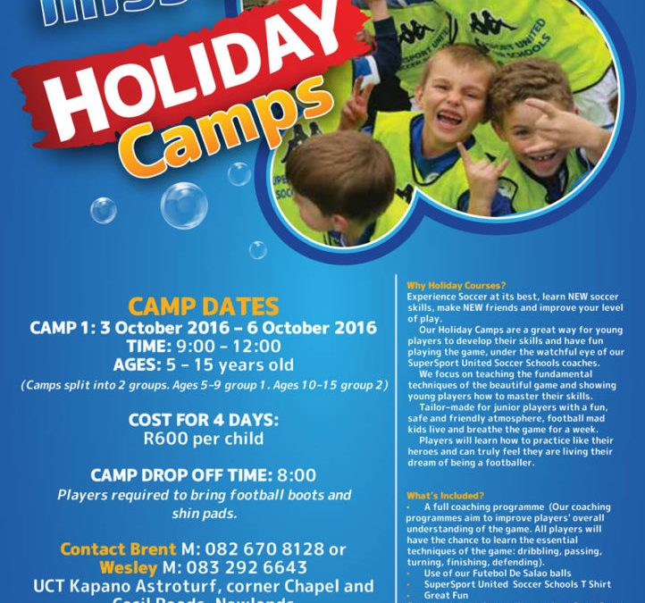 Super Sport United Soccer School Holiday Camp – Register Now!