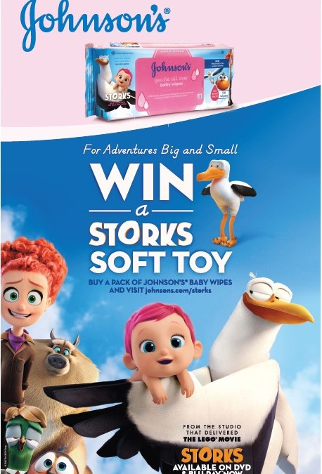 WIN One Of Two Johnson's STORKS Wipes Hampers worth R500! Includes DVD!