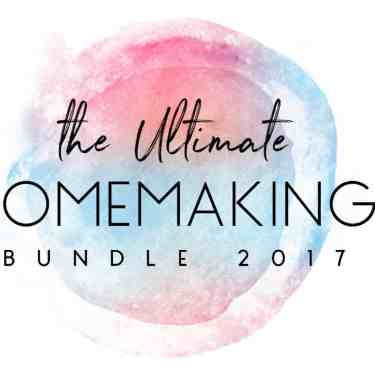 Amazing Resources to help moms & homemakers be less stressed, more organized and happier overall! 106 eBooks, eCourses, audios, videos, printables, summits, and even a membership site, all created to make homemaking and mothering easier and more enjoyable for LESS THAN $30! | The Ultimate Homemaking Bundle