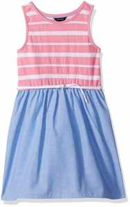 nautica pink chambray dress