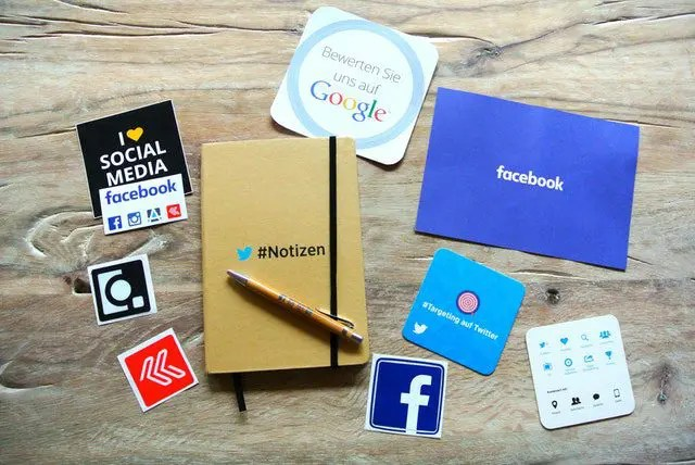 Image of several social media icons