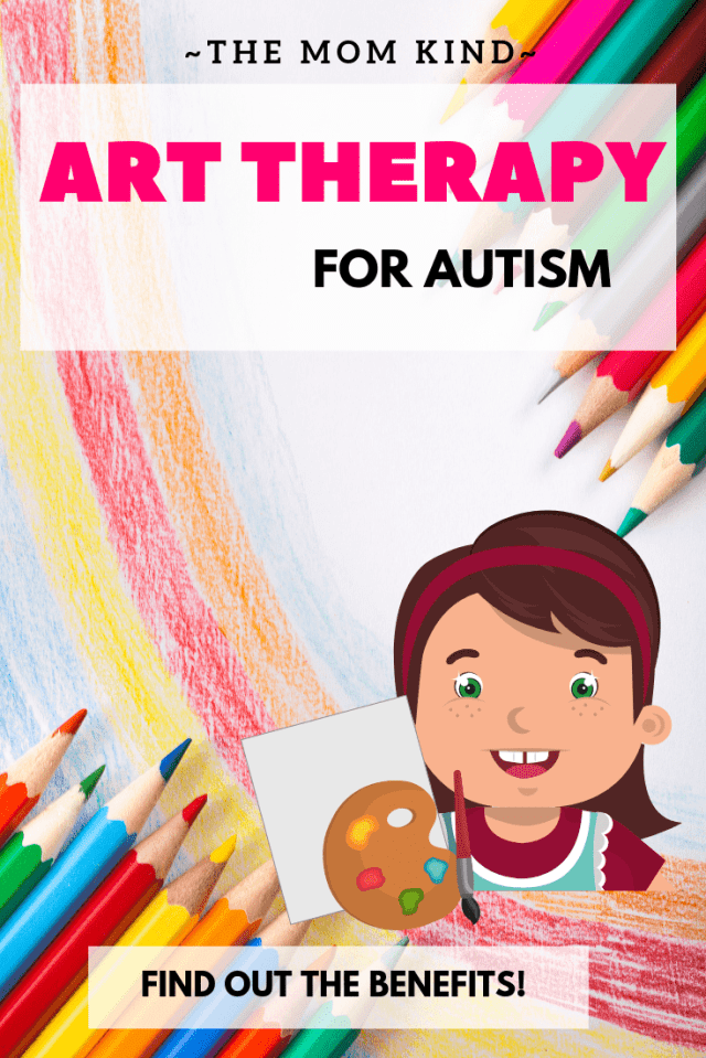 Art therapy has so many amazing benefits for autistic children (and adults!).  Check out the benefits and some ways to incorporate this into your daily life! #autismawareness #autismparenting