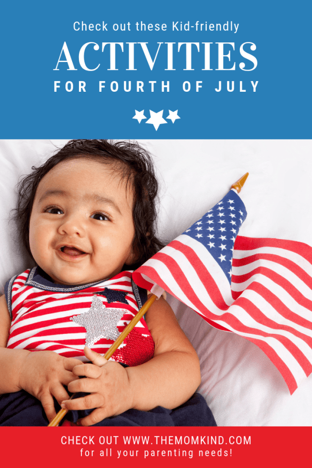 Kids love the Fourth of July just as much if not more than adults.  Check out these awesome kid friendly activities for kids for the 4th of July