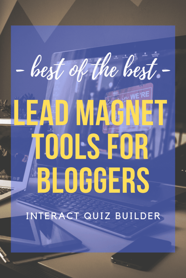 Before you spend hours of time on creating freebies as your lead magnet, create your own beautiful, high converting quiz with @TryInteract! #quizzes
