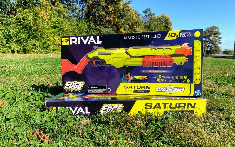Get Outside with Nerf Rival Edge Series Saturn XX-1000 Targeting Set