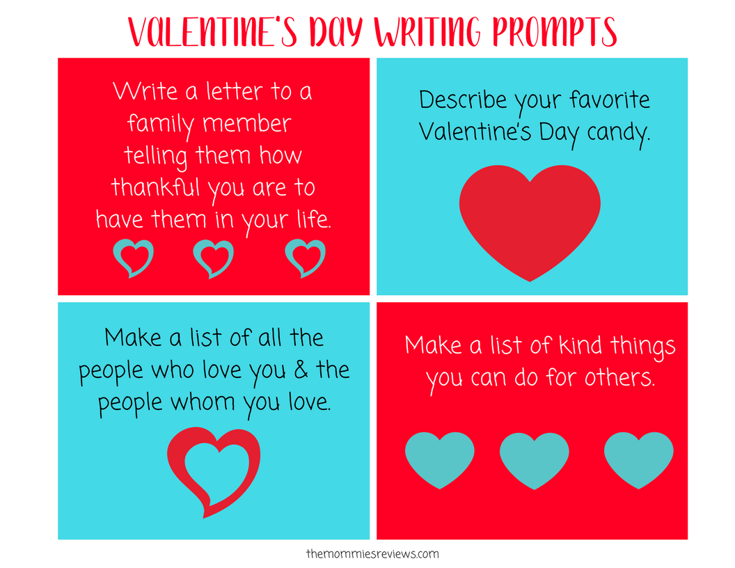 Valentine S Day Writing Prompts For 4th Grade