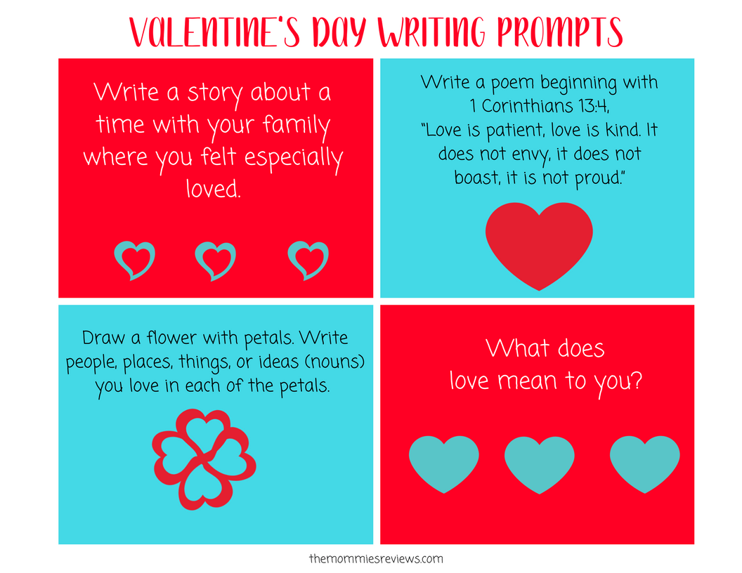Valentine S Day Writing Prompts Post 2