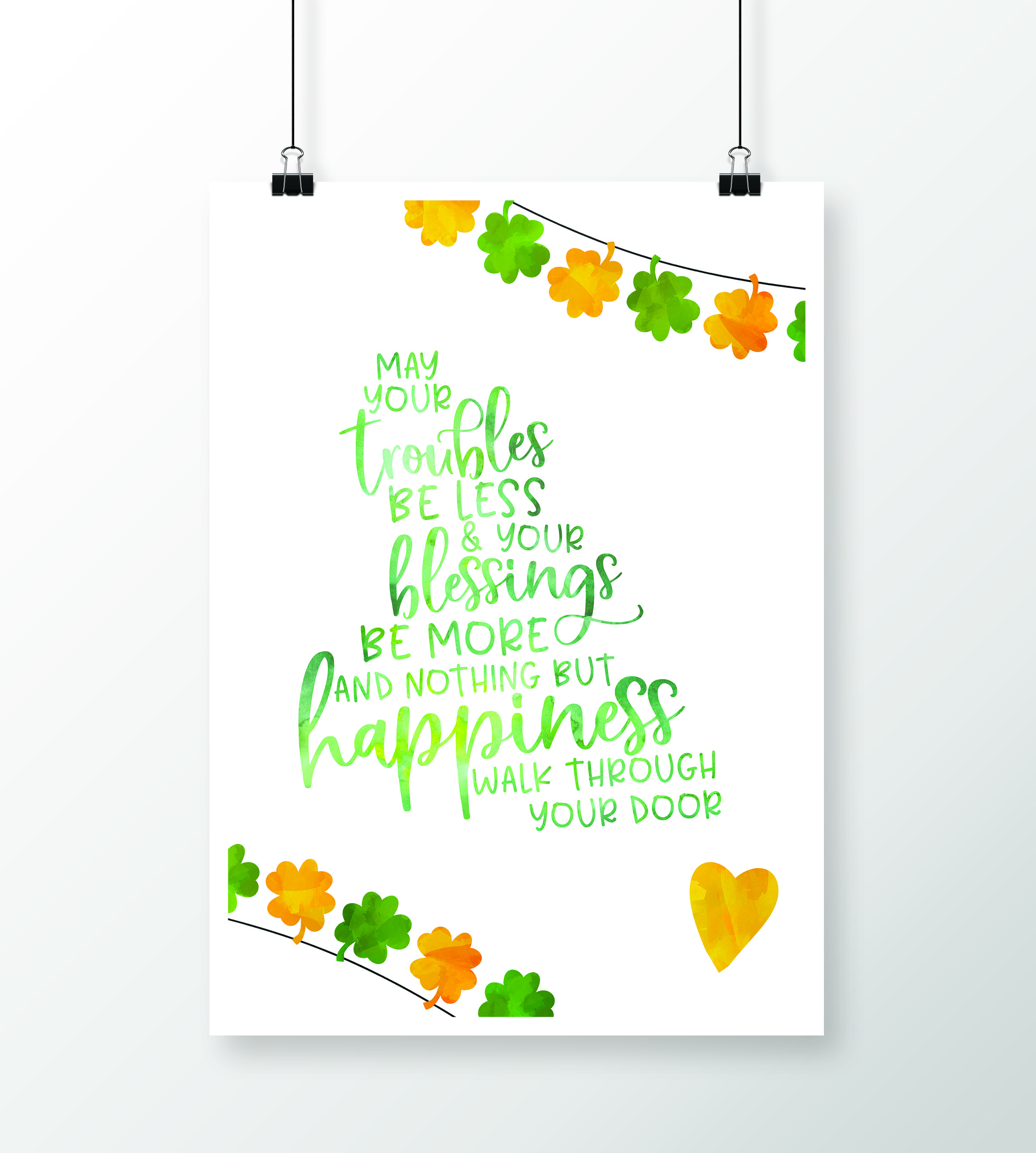 picture about Printable Irish Blessing named Freebie Printable: Irish Blessing -