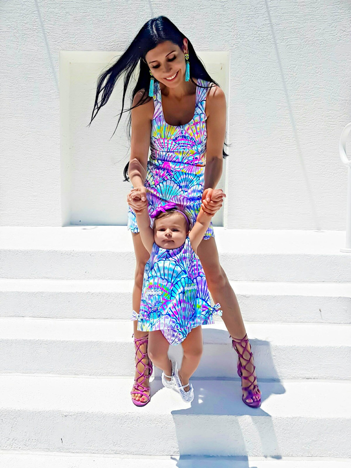 Lilly Pulitzer Cadden Scalloped Mommy And Me matching dresses clothes
